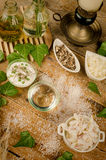 Natural produts ingredients Stock Image