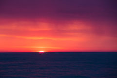Natural Purple Color Sunset Or Sunrise Sky Over Sea After Storm Royalty Free Stock Photo