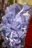 Natural purple crystal stone, adobe rgb Royalty Free Stock Image