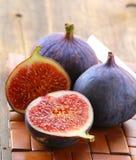 Natural purple ripe figs Stock Photo