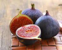 Natural purple ripe figs Royalty Free Stock Images