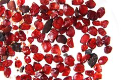 Natural pyrote garnet background (minerals, gems) Stock Photography