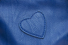 Natural qualitative blue leather texture. Royalty Free Stock Photo