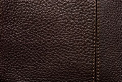 Natural qualitative brown leather Stock Photos