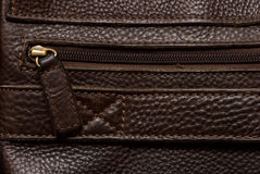 Natural qualitative brown leather Royalty Free Stock Photography