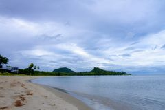 Natural in the rain on seaside Tap Sakae. Phrachaup Khirikhan Povince Thailand Stock Photo