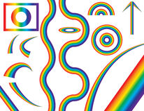 Natural Rainbow of Different Shapes. Vector Illustration. Stock Photo