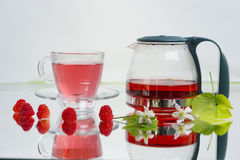 Natural raspberry tea Royalty Free Stock Images