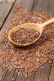 Natural raw flax seeds nutritious food in spoon Stock Photography
