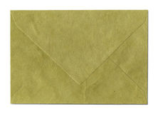 Natural recycled nepalese paper envelope Stock Photography