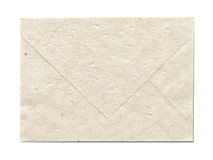 Natural recycled nepalese paper envelope Stock Photos