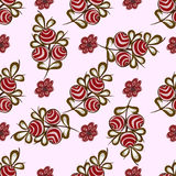 Natural red berries seamless pattern background Stock Image