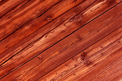 Natural red colored pine wood panels as background Royalty Free Stock Photography