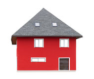 Natural red house. royalty free stock images