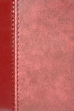 Natural red leather Royalty Free Stock Photo