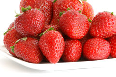 Natural red strawberries Stock Photo