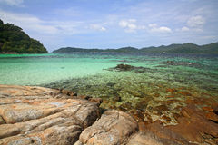 Natural reef on crystal sea at Koh Lok Loy Stock Image