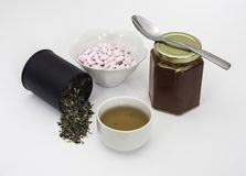 Natural Remedies with Tea Stock Images