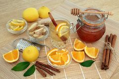 Natural Remedy for Cold and Flu stock photography