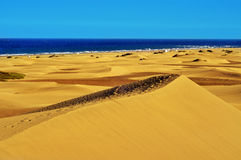 Natural Reserve of Dunes of Maspalomas, in Gran Canaria, Spain. A view of the Natural Reserve of Dunes of Maspalomas, in Gran Canaria, Canary Islands, Spain stock image