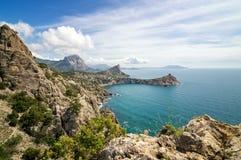 Natural reserve of mount Karaul-Oba, Crimea, city of Sudak, Black sea coast Stock Images