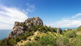 Natural reserve of mount Karaul-Oba, Crimea, city of Sudak, Black sea coast Royalty Free Stock Photos