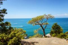 Natural reserve of mount Karaul-Oba, Crimea, city of Sudak, Black sea. Golitsyn trail Stock Photo