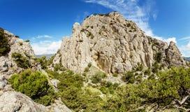 Natural reserve of mount Karaul-Oba, Crimea, city of Sudak, Black sea Stock Image