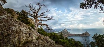 Natural reserve of mount Karaul-Oba, Crimea, city of Sudak, Black sea Stock Photo