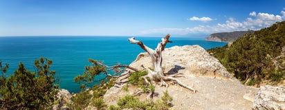 Natural reserve of mount Karaul-Oba, Crimea, city of Sudak, Black sea Royalty Free Stock Photos