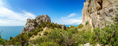 Natural reserve of mount Karaul-Oba, Crimea, city of Sudak, Black sea Royalty Free Stock Images