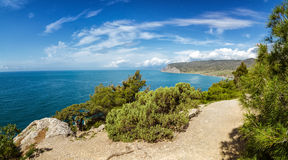 Natural reserve of mount Karaul-Oba, Crimea, city of Sudak, Black sea Royalty Free Stock Photography