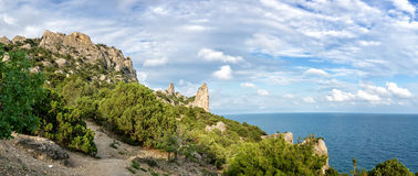 Natural reserve of mount Karaul-Oba, Crimea, city of Sudak, Black sea Stock Photo