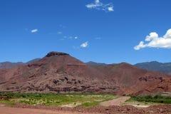 Natural reserve Quebrada de las Conchas en Argentina. Red colour rock landscape. South America, Argentina dramatic beautiful scenery, Quebrada de Cafayate Stock Image