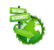 Natural resources concept illustration design Stock Photography
