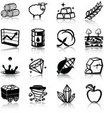 Natural resources icons Stock Photography