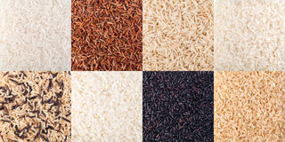 Natural rice Background. Uncooked raw cereals Stock Images