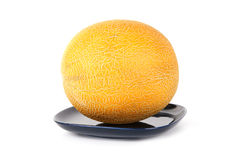 Natural ripe melon on a clean white background Stock Images