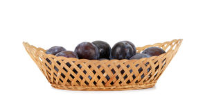 Natural ripe plums Stock Image