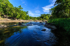 Natural river. Natural sources are called whitewater rapids orange cat Ratchaburi , Thailand royalty free stock photo