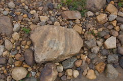 Natural river stones background. Royalty Free Stock Images