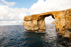 Natural rock arch Azure Window, Gozo Royalty Free Stock Photography