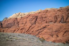 Calico Red Rocks in Red Rock Canyon National Conservation Area, Nevada stock photography