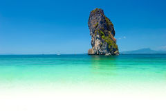 Natural rock formation in turquoise water of thai tropical sea Royalty Free Stock Image