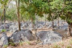 Natural rock garden, Kanchanaburi,Thailand Royalty Free Stock Images