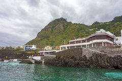 Natural rock pool of Porto Moniz Stock Images