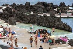 Natural rock pool of Porto Moniz. Royalty Free Stock Photos
