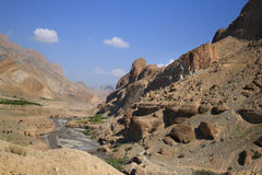 Natural Rock and Sand Formations in Jammu and Kashmir state (India) Stock Images