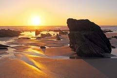 Natural rocks at the atlantic ocean in Portugal Royalty Free Stock Photos