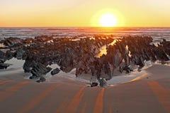 Natural rocks at the atlantic ocean in Portugal Stock Image